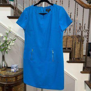 Tahari  Women Size 8 Blue Career Sheath Dress Sz 8